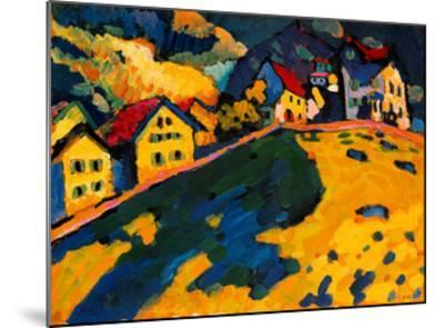 Houses on a Hill, 1909-Wassily Kandinsky-Mounted Giclee Print
