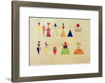Pictures at an Exhibition Figures Image XVI, 1930-Wassily Kandinsky-Framed Giclee Print