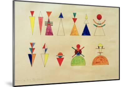 Pictures at an Exhibition Figures Image XVI, 1930-Wassily Kandinsky-Mounted Giclee Print