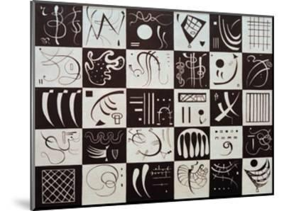 Thirty, 1937-Wassily Kandinsky-Mounted Giclee Print