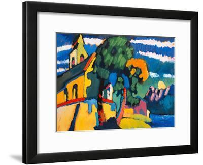 Village Church in Riegsee, Bavaria, 1907-Wassily Kandinsky-Framed Giclee Print
