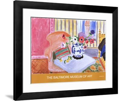 Anemones and Chinese Vase-Henri Matisse-Framed Collectable Print
