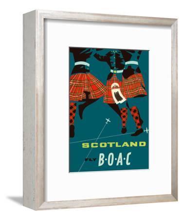 Scotland - Scottish Highland Dancers in Royal Stewart Tartan Kilts--Framed Art Print