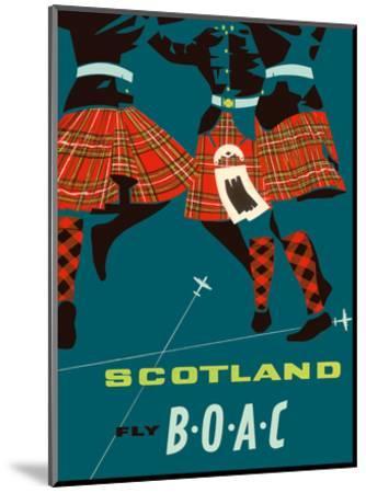 Scotland - Scottish Highland Dancers in Royal Stewart Tartan Kilts--Mounted Art Print