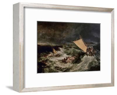 Shipwreck, 1800-J^ M^ W^ Turner-Framed Giclee Print