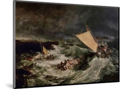 Shipwreck, 1800-J^ M^ W^ Turner-Mounted Giclee Print