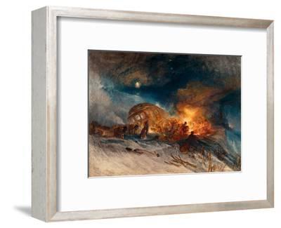 Travellers in a Snow Drift on Mount Tarrar, 1829-J^ M^ W^ Turner-Framed Giclee Print