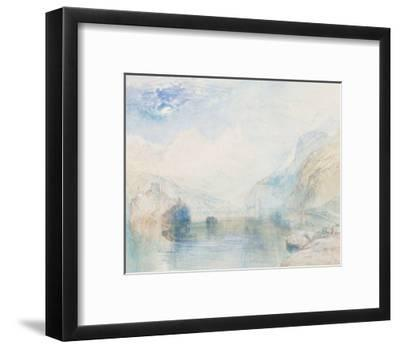 The Lauerzersee with Schwyz and the Mythen-J^ M^ W^ Turner-Framed Giclee Print