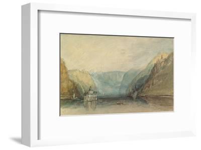 The Pfalz Near Kaub, 1817-J^ M^ W^ Turner-Framed Giclee Print