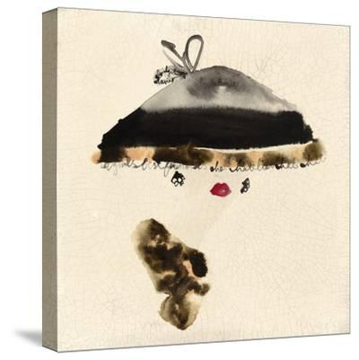 The Leopard Trimmed Hat-Bridget Davies-Stretched Canvas Print