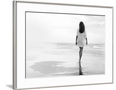 Walking on a White Beach-Marco Milillo-Framed Art Print