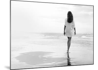 Walking on a White Beach-Marco Milillo-Mounted Art Print
