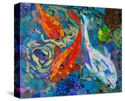 3 Koi--Stretched Canvas Print