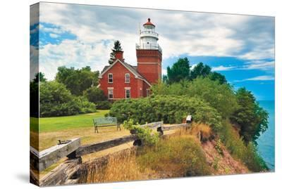Big Bay Lighthouse -Big Bay MI--Stretched Canvas Print