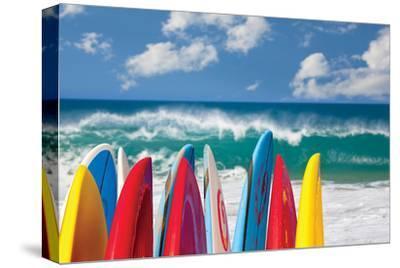 Board in Maui II--Stretched Canvas Print