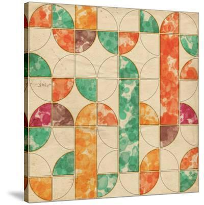 Geometric Color Shape V--Stretched Canvas Print