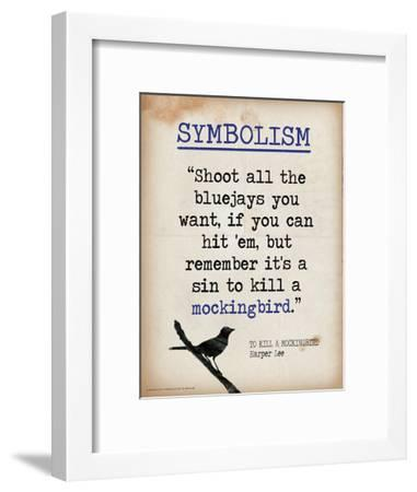Symbolism (Quote from To Kill a Mockingbird by Harper Lee) Art Print by  Jeanne Stevenson | Art com