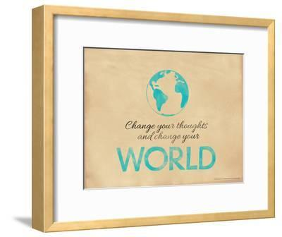 Change Your Thoughts and Change Your World-Jeanne Stevenson-Framed Giclee Print