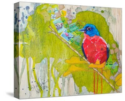 Painted Bunting--Stretched Canvas Print