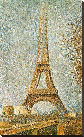 Seurat: Eiffel Tower, 1889-Georges Seurat-Stretched Canvas Print