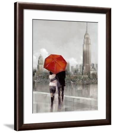 Modern Couple in New York-Ruane Manning-Framed Art Print