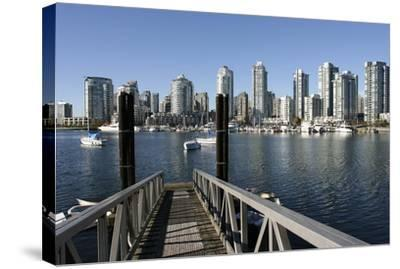 Vancouver from GranvilleIsland--Stretched Canvas Print
