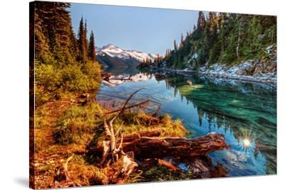 Mountain Lake Inlet and Shores--Stretched Canvas Print