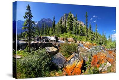 Steps Paradise Valley Alberta--Stretched Canvas Print