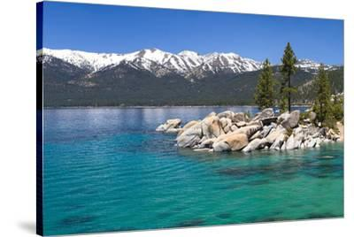 Lake Tahoe & Mountains--Stretched Canvas Print
