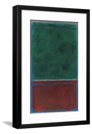 No. 7 (Green and Maroon), 1953-Mark Rothko-Framed Art Print