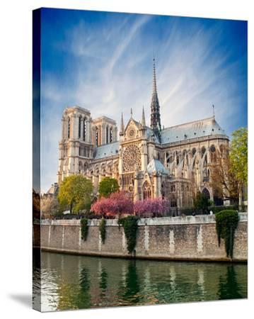 Notre Dame De Paris - France--Stretched Canvas Print