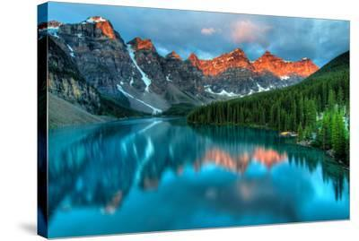 Peak Color Moraine Lake Banff--Stretched Canvas Print