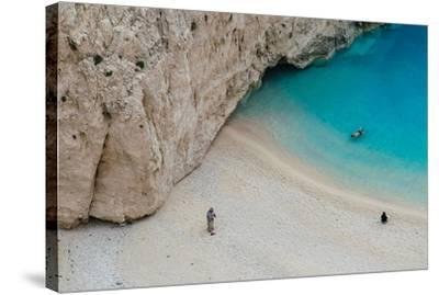 Swimming in Turquoise Waters--Stretched Canvas Print