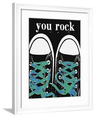 You Rock - Blue Laces-Lisa Weedn-Framed Giclee Print