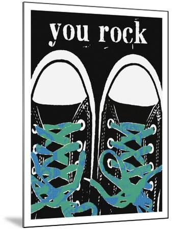 You Rock - Blue Laces-Lisa Weedn-Mounted Giclee Print