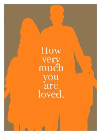 How Very Much You Are Loved (Orange)-Lisa Weedn-Framed Giclee Print