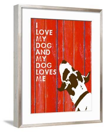 Love My Dog #3-Lisa Weedn-Framed Giclee Print