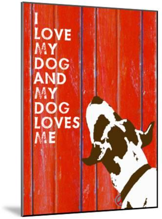 Love My Dog #3-Lisa Weedn-Mounted Giclee Print