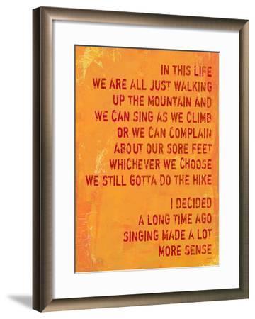 Singing Made A Lot More Sense-Lisa Weedn-Framed Giclee Print