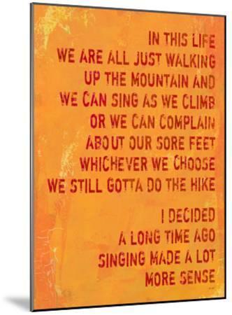 Singing Made A Lot More Sense-Lisa Weedn-Mounted Giclee Print