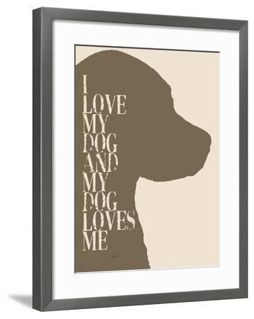 I Love My Dog #2-Lisa Weedn-Framed Giclee Print