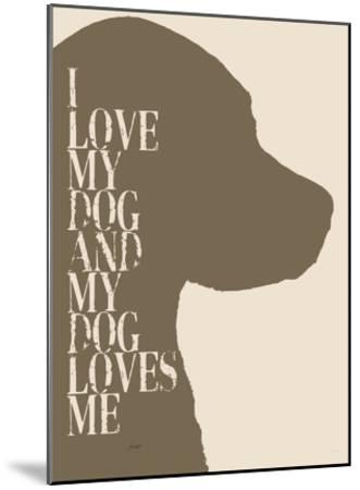 I Love My Dog #2-Lisa Weedn-Mounted Giclee Print