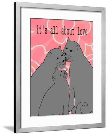It'S All About Love-Lisa Weedn-Framed Giclee Print