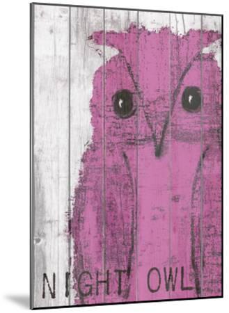 Night Owl Pink-Lisa Weedn-Mounted Giclee Print