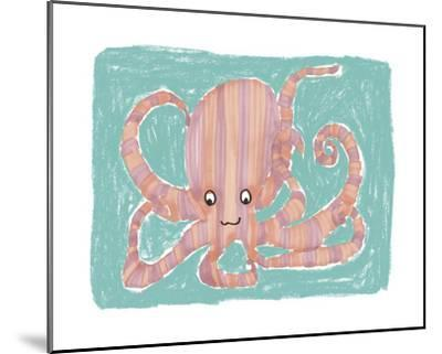 Striped Octopus-Katrien Soeffers-Mounted Giclee Print