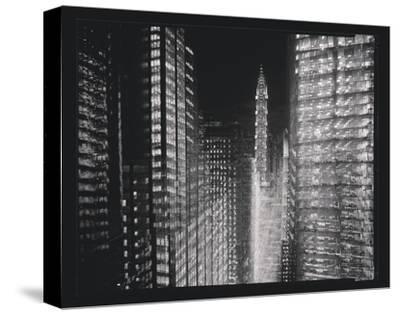 Chrysler Building Motion Landscape #4-Len Prince-Stretched Canvas Print