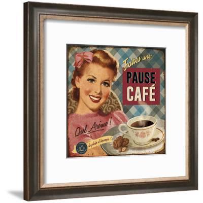 Pause café-Bruno Pozzo-Framed Art Print