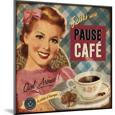 Pause café-Bruno Pozzo-Mounted Art Print