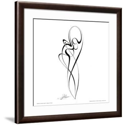 Dancing Couple III-Alijan Alijanpour-Framed Art Print