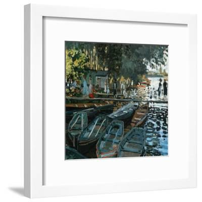 La Grenouillère-Pierre-Auguste Renoir-Framed Art Print
